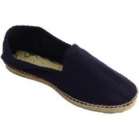 Zapatos Hombre Alpargatas Made In Spain 1940 Alpargatas de esparto tela de espiga y s azul