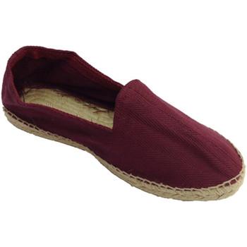 Zapatos Hombre Alpargatas Made In Spain 1940 Alpargatas de esparto tela de espiga y s burdeos