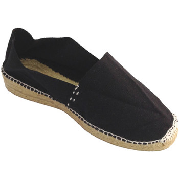 Zapatos Mujer Alpargatas Made In Spain 1940 Alpargata de esparto con cuña baja negro
