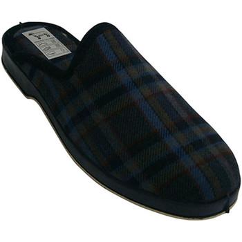 Zapatos Hombre Pantuflas Calzacomodo Chanclas cuadros piso de goma azul