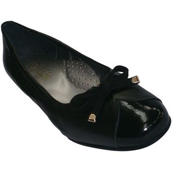 Zapatos Mujer Mocasín Roldán Zapatos tipo manoletinas combinadas en piel y charol negro