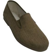 Zapatos Hombre Pantuflas Chapines Zapatillas lona con gomas a los lados beige