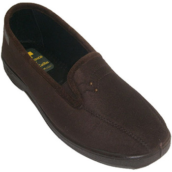 Zapatos Mujer Pantuflas Doctor Cutillas Zapatillas cerrada de licra con elastico marrón