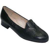 Zapatos Mujer Bailarinas-manoletinas Roldán Zapatos anchos especiales poco tacón con solapa negro