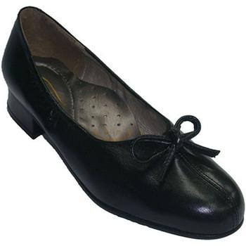 Zapatos Mujer Bailarinas-manoletinas Roldán Zapatos ancho especial con tacón abertura en el centro con lazo negro