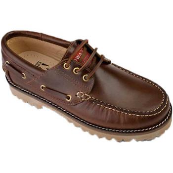 Zapatos Zapatos náuticos Edward's Náuticos piel suela gorda marrón