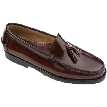 Zapatos Hombre Mocasín Edward's Castellanos con borlas burdeos