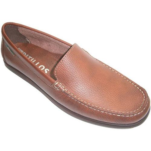 Pitillos Pala Tipo Zapato Lisa Mocasín Marrã³n TlKc3FJ1
