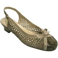 Zapatos Mujer Sandalias Roldán Zapato mujer abierto atrás punta cerrada tacón bajo beige