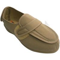 Zapatos Mujer Pantuflas Doctor Cutillas Zapatilla mujer pies muy anchos con velc beige