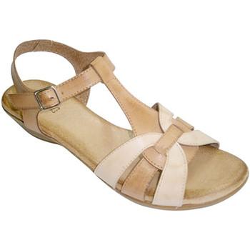 Zapatos Mujer Sandalias Rodri Sandalias mujer combinadas dos colores planta muy blanda de piel marrón