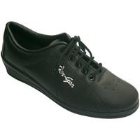 Zapatos Mujer Sport Indoor Made In Spain 1940 Deportivas cordones mujer con cuña negro