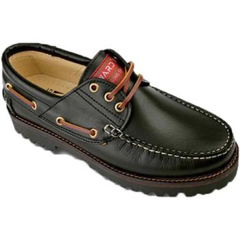 Zapatos Hombre Zapatos náuticos Edward's Naúticos hombre tallas grandes del 47 al negro