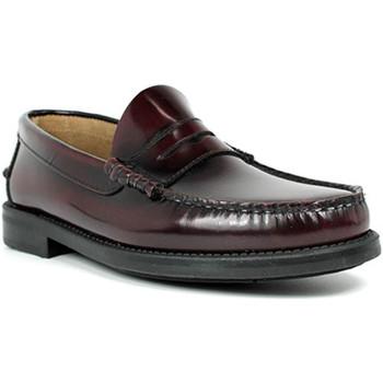 Zapatos Hombre Mocasín Edward's Castellanos suela goma burdeos