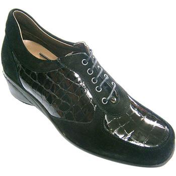 Zapatos Mujer Richelieu Roldán Zapato mujer combinado ante y charol negro