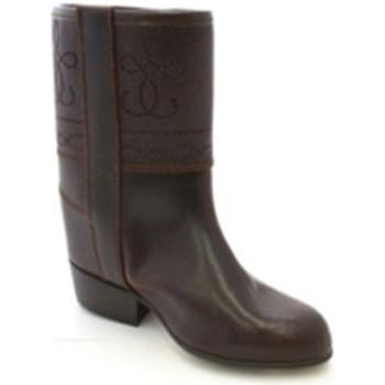 Zapatos Mujer Botas urbanas Danka Bota campera niña con grabados marrón