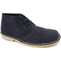 Zapatos Hombre Botas de caña baja Danka Bota safari puntera ancha azul