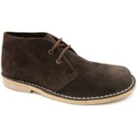 Zapatos Hombre Botas de caña baja Danka Bota safari puntera ancha marrón