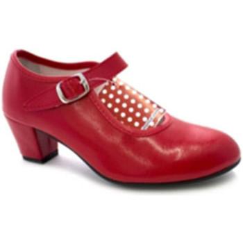 Zapatos Mujer Zapatos de tacón Danka Zapato baile sevillanas flamenco para niña o mujer rojo