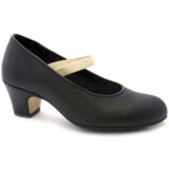 Zapatos Mujer Zapatos de tacón Danka Zapato baile flamenco puntera y tacón de metal sujección con gom negro