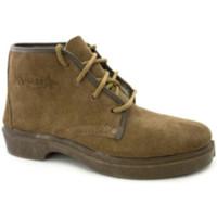 Zapatos Hombre Botas de caña baja Segarra Bota trabajo serraje cordones marrón