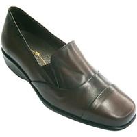 Zapatos Mujer Mocasín Pomares Vazquez Zapatos mujer con pala alta con gomitas violeta