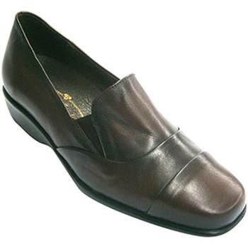 Zapatos Mujer Mocasín Pomares Vazquez Zapatos mujer con pala alta con gomitas burdeos