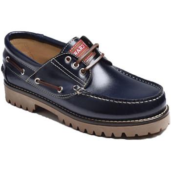 Zapatos Hombre Zapatos náuticos Edward's Náuticos piel suela gorda azul
