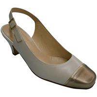 Zapatos Mujer Sandalias Pomares Vazquez Zapato mujer punta metalizada cerrada talón abierto azul