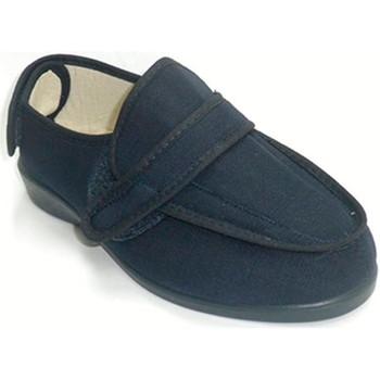 Zapatos Mujer Pantuflas Doctor Cutillas Zapatillas mujer velcro super anchas azul