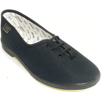 Zapatos Mujer Pantuflas Doctor Cutillas Zapatilla de cordones para persona mayor negro