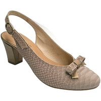 Zapatos Mujer Zapatos de tacón Roldán Zapato abierto atrás con tacón combinado en nobuk