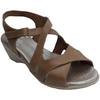 Zapatos Mujer Sandalias Made In Spain 1940 Sandalia mujer con tiras cruzadas marrón