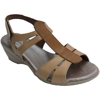 Zapatos Mujer Sandalias Made In Spain 1940 Sandalia mujer con tira central en otro marrón