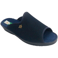 Zapatos Mujer Pantuflas Made In Spain 1940 Chancla rejilla estar por casa mujer abi azul