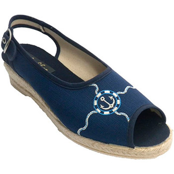 Zapatos Mujer Sandalias Made In Spain 1940 Zapatilla mujer abierta con tira por det azul