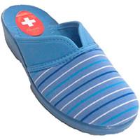 Zapatos Mujer Pantuflas Nevada Zapatila de estar en casa mujer abierta de atrás con abertura en azul