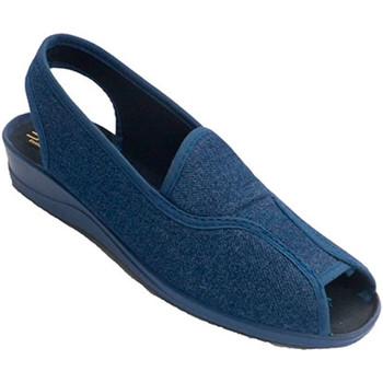 Zapatos Mujer Sandalias Nevada Zapatilla mujer abierta punta y talón con tira por detrás azul