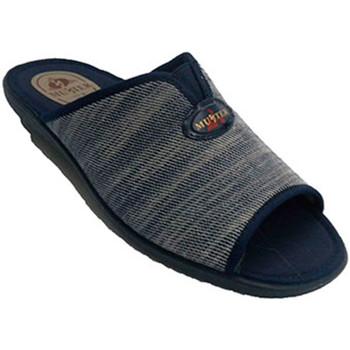 Zapatos Hombre Zuecos (Mules) Muñoz Y Tercero Chancla de estar en casa hombre azul