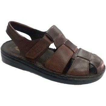 Zapatos Hombre Sandalias Muñoz Y Tercero Sandalia hombre cerrada por la punta abierto talón marrón
