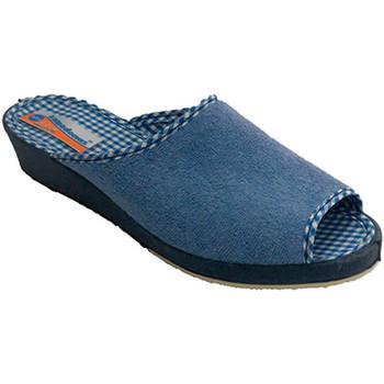 Zapatos Mujer Sandalias Calzacomodo Chanclas toalla mujer abiertas por la pu azul