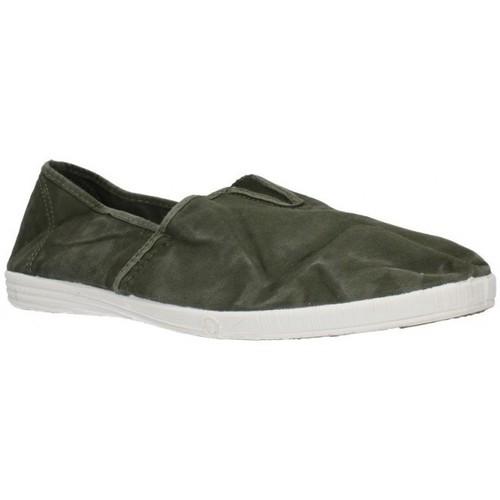 Natural World 305E Hombre Kaki vert - Zapatos Slip on Hombre