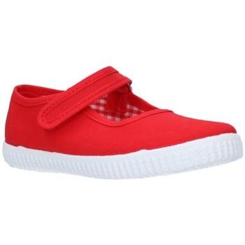 Zapatos Niña Sandalias V-n Lona Rojo