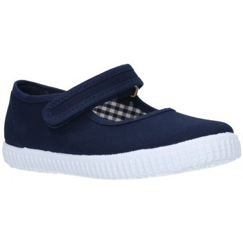 Zapatos Niña Sandalias V-n Lona Azul marino