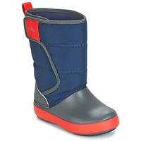 Zapatos Niños Botas de nieve Crocs LODGEPOINT SNOW BOOT K Marino