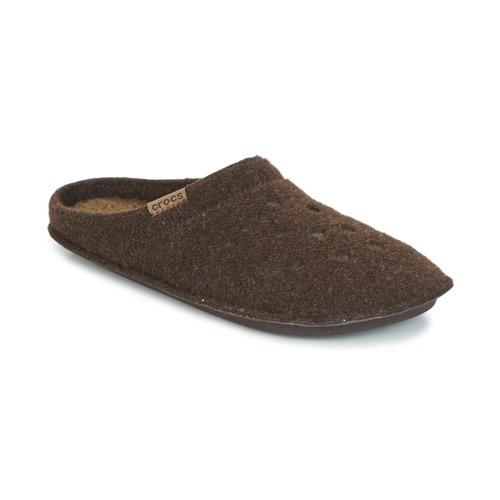 Zapatos Pantuflas Crocs CLASSIC SLIPPER Marrón