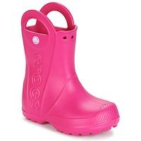 Zapatos Niña Botas de agua Crocs HANDLE IT RAIN BOOT Rosa