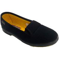 Zapatos Mujer Pantuflas Doctor Cutillas Zapatilla mujer de persona mayor con gom negro