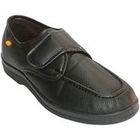 Zapatos Hombre Mocasín Doctor Cutillas Zapatilla hombre simulando zapato con velcro negro