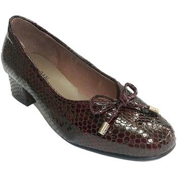 Zapatos Mujer Mocasín Roldán Zapato mujer tipo manoletinas charol simula piel de serpiente violeta